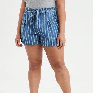AMERICAN EAGLE Pinstripe Cotton Jean Short